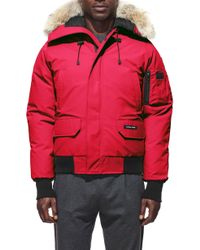 Canada Goose Chilliwack Fur - Trimmed Down Bomber Jacket - Red
