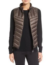 Tumi | Packable Quilted Down Vest, Brown | Lyst