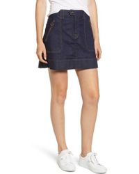 7 For All Mankind - 7 For All Mankind Utility Miniskirt - Lyst