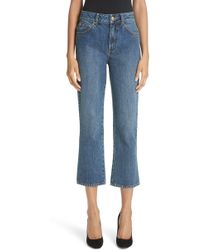 Co. Essentials Crop Flare Jeans - Blue