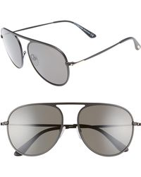 f5bbe5aa5a12 Lyst - Tom Ford Sandra 62Mm Oversized Crossover Round Sunglasses in ...