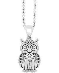 Lagos - 'rare Wonders - Owl' Long Talisman Necklace - Lyst
