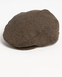 0a4a072be5c Lyst - Crown Cap Genuine Shearling Leather Driving Cap - in Black ...