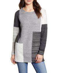 Caslon Caslon Tunic Sweater - Gray
