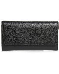 Nordstrom Margaux Leather Trifold Wallet - Black