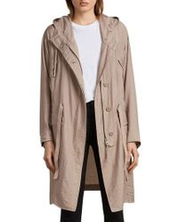 AllSaints - Kinsley Hooded Jacket - Lyst