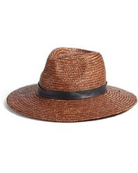 Amuse Society Don't Look Back Straw Hat - Brown