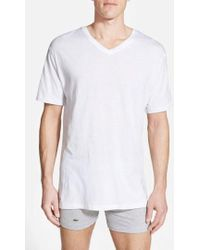Lacoste - Supima Cotton V-neck T-shirt - Lyst