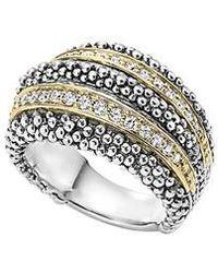 Lagos - Diamond Caviar Beaded Ring - Lyst