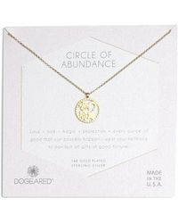 Dogeared - Circle Of Abundance Necklace - Lyst