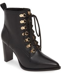 42616e947a5 Steve Madden Satisfied Corset-lace Bootie in Brown - Lyst