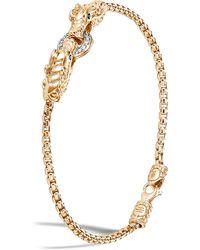 John Hardy - Naga Double Dragon 18k Gold & Diamond Bracelet - Lyst