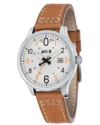 AVI-8 - Hawker Hurricane Leather Strap Watch - Lyst
