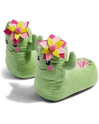 TOPSHOP Cactus Slippers - Green