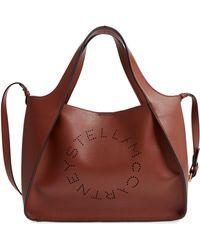 Stella McCartney Perforated Logo Faux Leather Satchel - - Multicolor