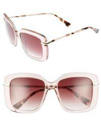 Derek Lam - Anita 55mm Square Sunglasses - Misty Nude - Lyst