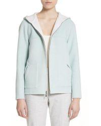 St. John - Reversible Wool & Angora Blend Sweatshirt - Lyst