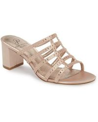 5f8a511ce3d7 Lyst - Faith Solo Fizz Cutout Heeled Sandals in Pink