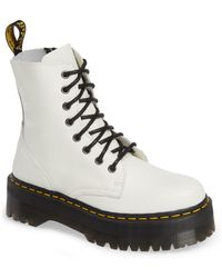 Dr. Martens - Jadon White Combat Boots - Lyst
