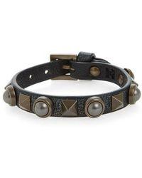Valentino - Garavani Rockstud Leather Bracelet - Lyst