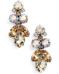 Sorrelli - Crystal Lotus Flower Drop Earrings - Lyst