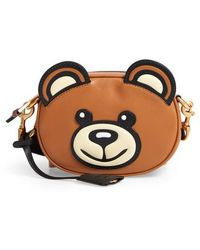 Moschino - Crystal Teddy Leather Crossbody Bag - - Lyst