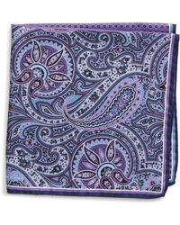 Nordstrom Silk Pocket Square - Purple