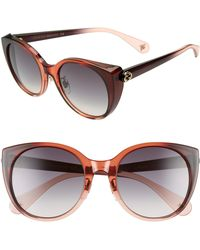 8556d88e60 Gucci - 54mm Cat Eye Sunglasses - Rust  Nude  Grey Gradient - Lyst