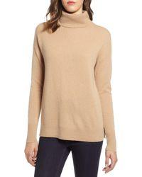 Halogen Halogen Cashmere Turtleneck Sweater - Natural