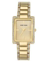 Anne Klein - Crystal Bracelet Watch - Lyst