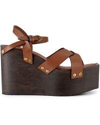 FRAME Le Melrose Platform Sandal - Brown