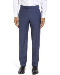 Zanella - Parker Flat Front Sharkskin Wool Trousers - Lyst