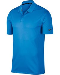 37e88a1b2 Nike Victory Solid Polo in Blue for Men - Lyst