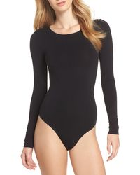 Yummie By Heather Thomson Shaping Thong Bodysuit - Black