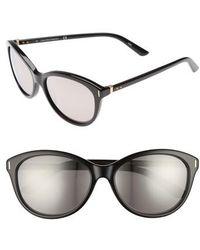 Calvin Klein   57mm Cat Eye Sunglasses   Lyst