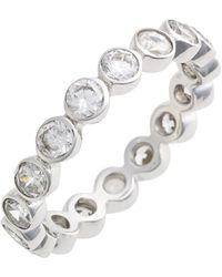 Judith Jack Stackable Cubic Zirconia Bezel Ring - Metallic