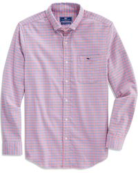 Vineyard Vines Tucker Classic Fit Gingham Button-down Shirt - Purple