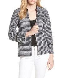 Foxcroft - Irina Stripe Knit Jacket - Lyst