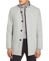 Theory Christopher Wool Blend Coat - Gray