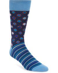 Bugatchi - Dot & Stripe Socks - Lyst