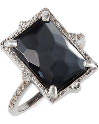 Armenta Hematite Doublet Ring - Metallic