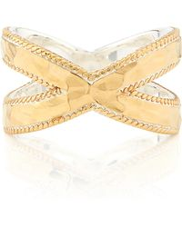 Anna Beck - Hammered Cross Ring - Lyst