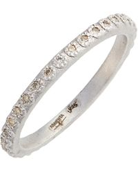 Armenta - New World Silver Champagne Diamond Stacking Ring - Lyst