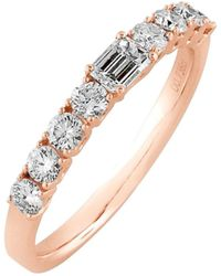 Bony Levy - 'liora' Stackable Emerald Cut Diamond Ring - Lyst