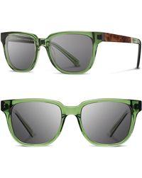 43c6898ce8e Shwood -  prescott  52mm Acetate   Wood Sunglasses - Emerald  Elm Burl