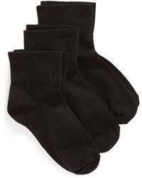 Nordstrom - Everyday 3-pack Ankle Socks, Black - Lyst
