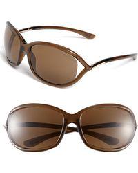 b0000417f2b4 Tom Ford - Jennifer 61mm Polarized Open Temple Sunglasses - Dark Brown   Polarized - Lyst