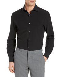 W.r.k. Trim Fit Solid Performance Stretch Dress Shirt - Black