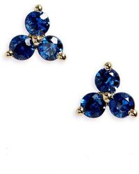 EF Collection - Trio Precious Stone Stud Earrings - Lyst