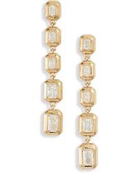 Nadri Mila Linear Earrings - Metallic